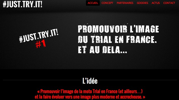 Just Try It, l'image de la moto Trial