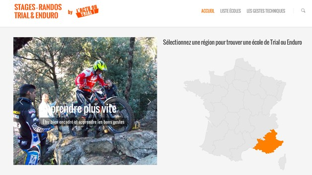 Site Wordpress école moto Trial
