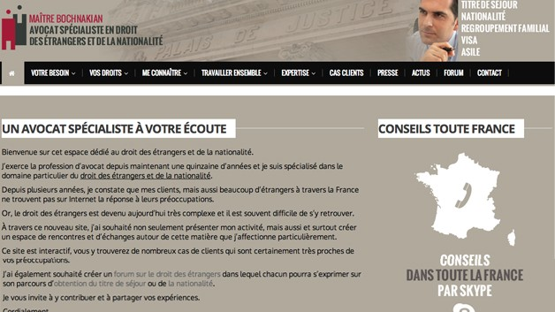 Site web pour avocat