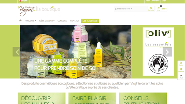 Boutique cosmétique bio Atelier de virginie