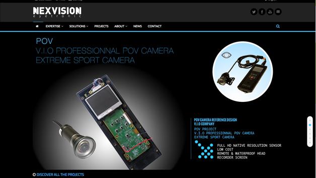Site web nexvision société innovante